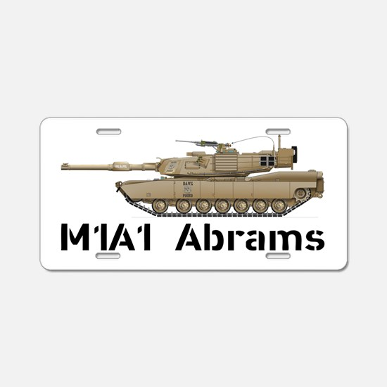 M1A1 Abrams - Desert Aluminum License Plate