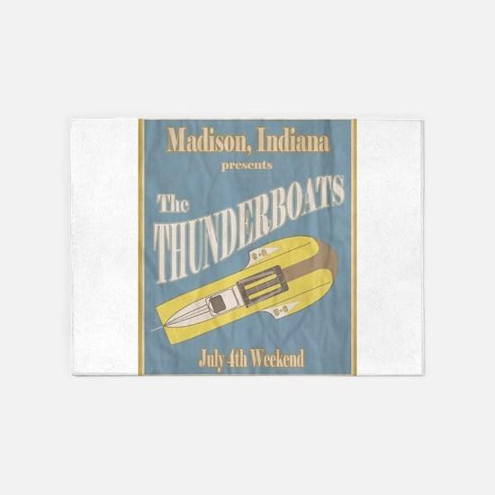 Vintage Thunderboat 5'x7'Area Rug