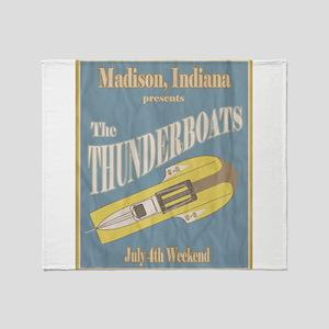 Vintage Thunderboat Throw Blanket