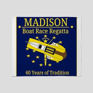 Madison Boat Race Regatta Throw Blanket