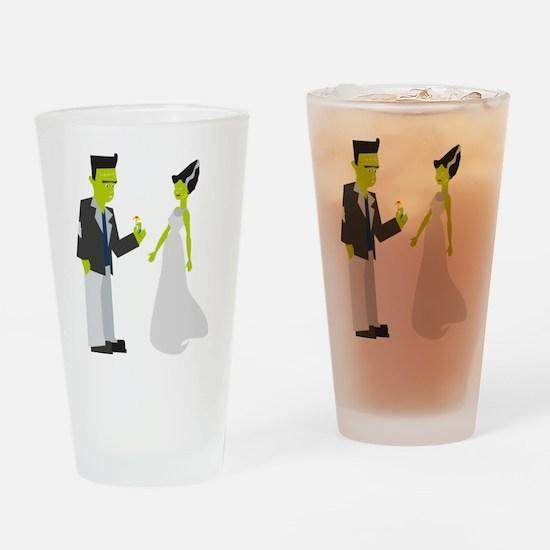 Frankenstein & Bride Drinking Glass