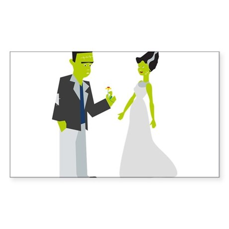 Frankenstein & Bride Sticker
