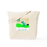 My Tiny Teal Deer Tote Bag