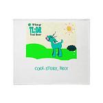 My Tiny Teal Deer Throw Blanket
