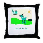 My Tiny Teal Deer Throw Pillow