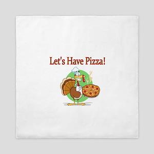 Lets Have Pizza Queen Duvet