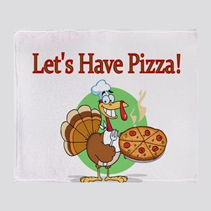 Lets Have Pizza Throw Blanket
