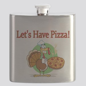 Lets Have Pizza Flask