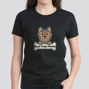 Personalized Yorkie Women's Dark T-Shirt