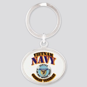 USS - Aludra (AF-55) - VN Cbt Vet Oval Keychain