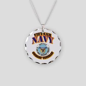 USS - Aludra (AF-55) - VN Cbt Vet Necklace Circle