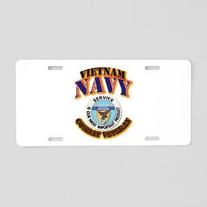 USS - Aludra (AF-55) - VN Cbt Vet Aluminum License
