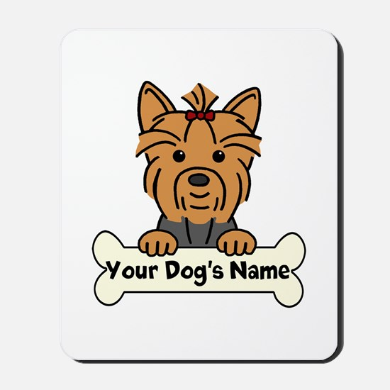 Personalized Yorkie Mousepad