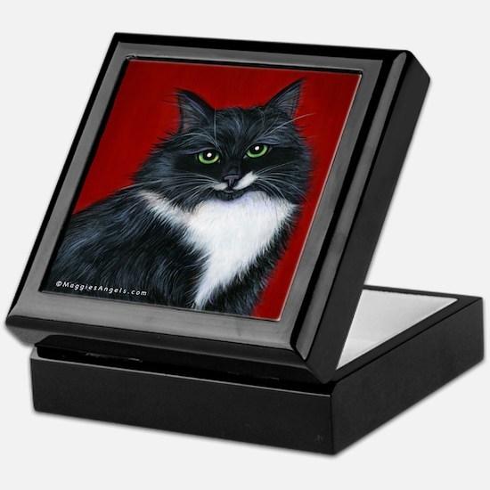 """Tuxedo Cat """"Twinkle Toes"""" Keepsake Box"""