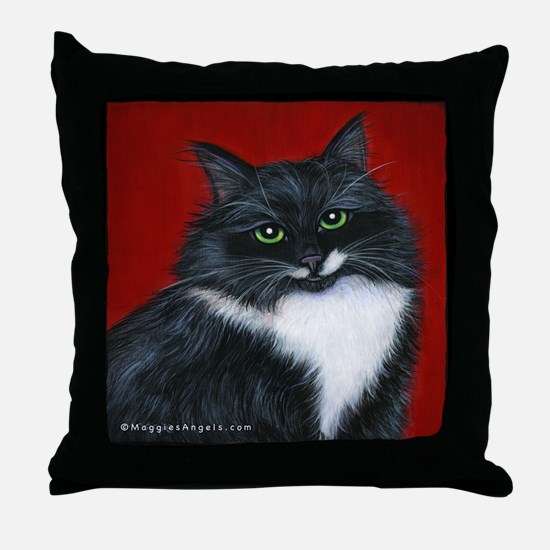 "Tuxedo Cat ""Twinkle Toes"" Throw Pillow"