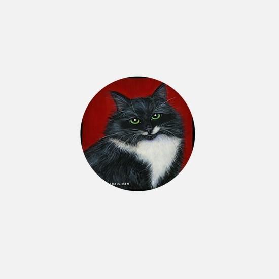 "Tuxedo Cat ""Twinkle Toes"" Mini Button"