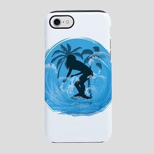 Female Surfer v1 iPhone 7 Tough Case