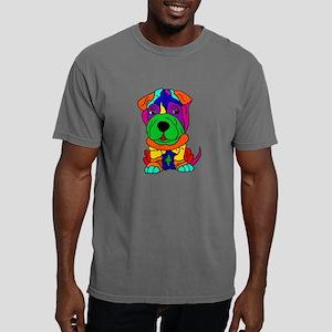 Funny Shar Pei Dog Pop A Mens Comfort Colors Shirt