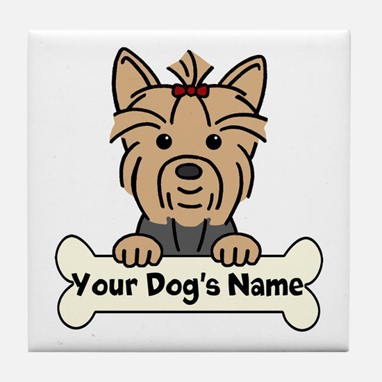 Personalized Yorkie Tile Coaster