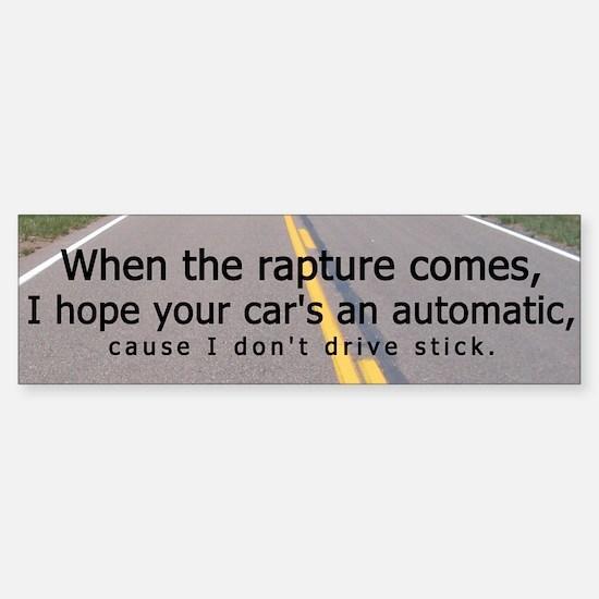Rapture Bumper Sticker (Humor)