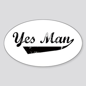 Yes Man Oval Sticker