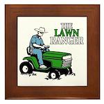 The Lawn Ranger Framed Tile