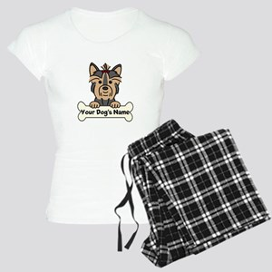Personalized Yorkie Women's Light Pajamas
