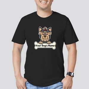 Personalized Yorkie Men's Fitted T-Shirt (dark)