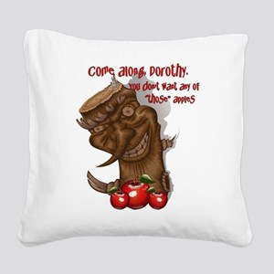 OZ Wicked Apple Tree Square Canvas Pillow
