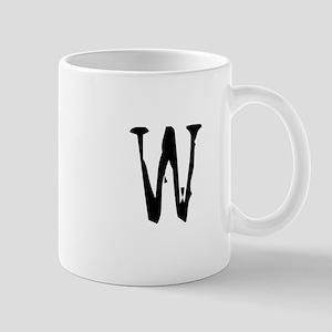 Acoustic Monogram W Mug