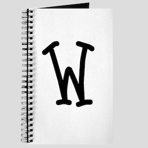 Bookworm Monogram W Journal