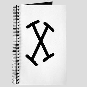 Bookworm Monogram X Journal