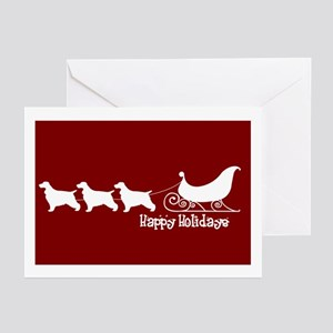"English Cocker ""Sleigh"" Greeting Cards (Package of"