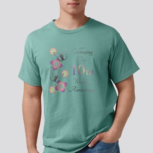 Elegant 10th Anniversary Mens Comfort Colors Shirt