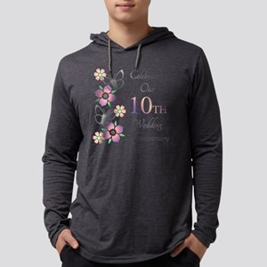 Elegant 10th Anniversary Mens Hooded Shirt