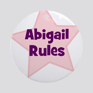 Abigail Rules Ornament (Round)