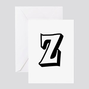 Action Monogram Z Greeting Card