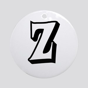 Action Monogram Z Ornament (Round)