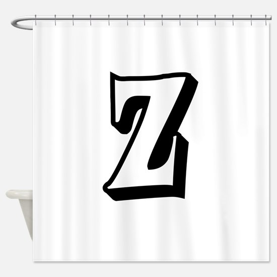 Action Monogram Z Shower Curtain