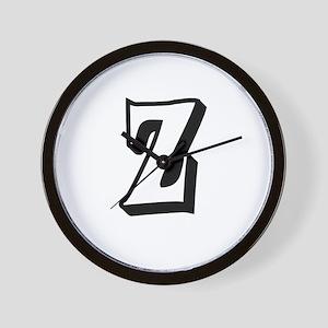 Action Monogram Z Wall Clock