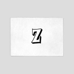 Action Monogram Z 5'x7'Area Rug