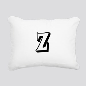 Action Monogram Z Rectangular Canvas Pillow