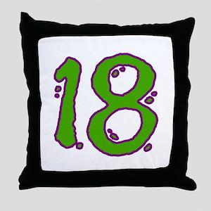 Green 18 Throw Pillow