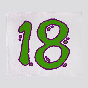 Green 18 Throw Blanket