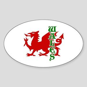 Wales Oval Sticker