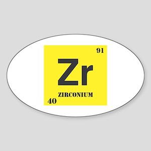 Zirconium Element Oval Sticker