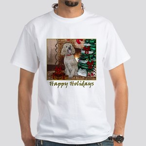 Poodle Christmas Foster White T-Shirt