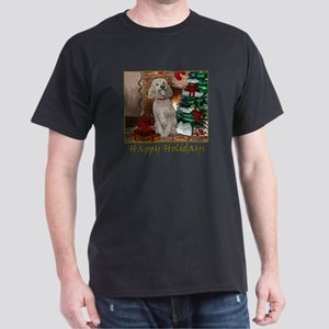 Poodle Christmas Foster Dark T-Shirt