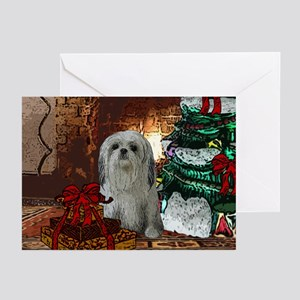 Shih Tzu Christmas Peaches Greeting Cards (Package
