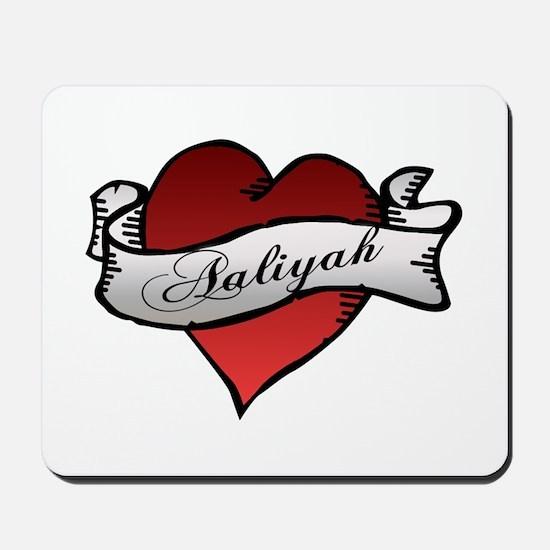 Aaliyah Heart Tattoo Mousepad